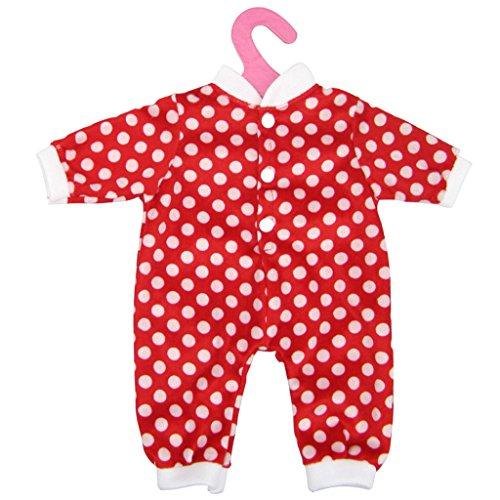 Polka Dot Overall (MagiDeal Polka Dot Overall Playsuit Outfit Kleidung Für 18-Zoll amerikanische Mädchen Puppe)