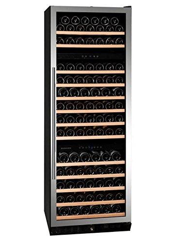 """Dunavox - """"DX-170.490STSK"""", Weintemperierschrank für 170 Flaschen, 3 Zonen, 5 - 22°C, Einbaugerät"""