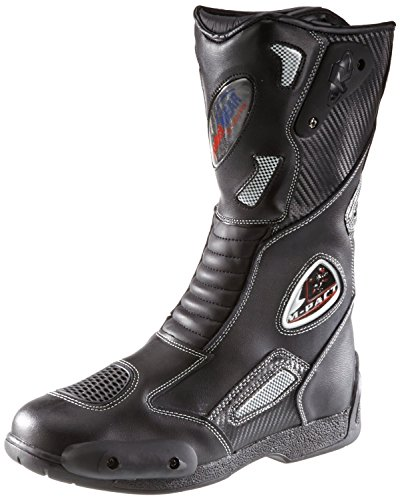 *Protectwear SB-03203-44 Motorradstiefel, Allroundstiefel, Sportstiefel aus Leder, Größe 44, Schwarz*