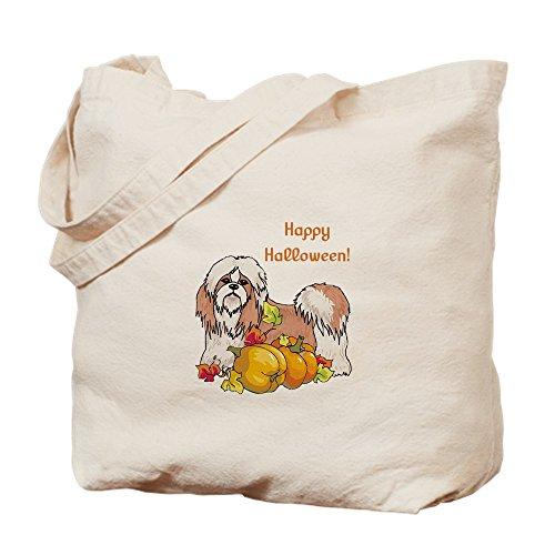 (CafePress–Happy Halloween Shih TZU–Leinwand Natur Tasche, Reinigungstuch Einkaufstasche, Canvas, Khaki, S)