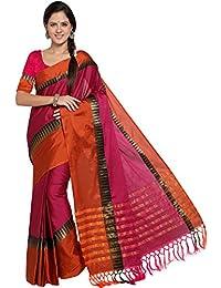 Ethnicjunction Silk Cotton Saree With Blouse Piece (Ej1162-1015_Pink_Free Size)