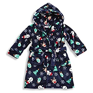 BABYTOWN Baby Boys Girls Novelty Fleece Dressing Gown Robe Christmas Xmas Gift