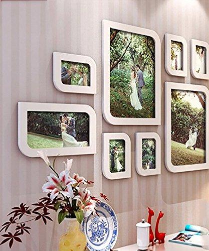 10 Multi-Frame-Foto Wand Massivholz geschnitzte Gestelle Fotowand Wand Fotorahmen Wand einfach modern europäischen Handarbeit ( Shape : Diamond )