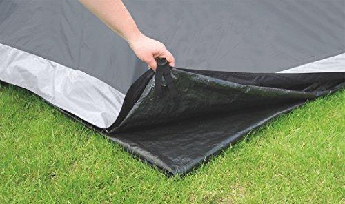 Easy Camp Palmdale 400 Telo Pavimento per Tenda da Campeggio, 4 Persone, Colore: Nero
