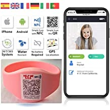 QR4g.com GPS: Pulsera con Tecnología QR NFC GPS para Niños y Mayores (