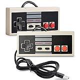 2 Pack iNNEXT NES Controller USB Gamepad für PC/Mac,Classic USB NES Controller Joystick Joypad für Windows PC/MAC/Raspberry Pi3/RetroPie NES Emulator