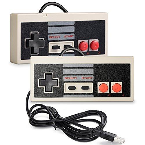 2 Pack iNNEXT NES Controller USB Gamepad für PC/Mac,Classic USB NES Controller Joystick Joypad für Windows PC/Mac / Raspberry Pi3 / RetroPie NES Emulator