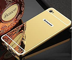 Aart Luxury Metal Bumper + Acrylic Mirror Back Cover Case for Lenovo K5 plus By Aart Store