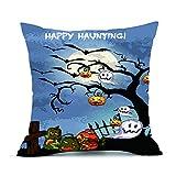 SEWORLD Happy Halloween Kissenbezüge Leinen Sofa Kissenbezug Home Decor D