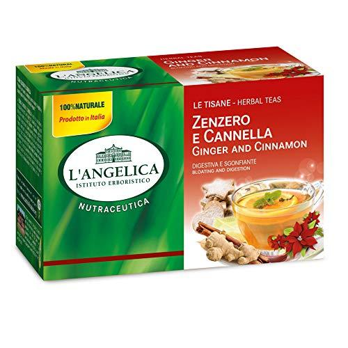 L\'Angelica Tisana Zenzero e Cannella - 20 Filtri - 44 g