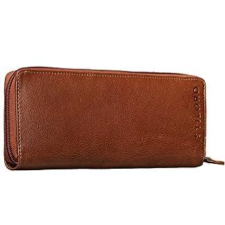 STILORD 'Carl' Vintage Bolso Pipa de piel de cachimba Estuche para Auriculares Fumare Encaje Hombres Mujeres Cuero Pardo corzo / marrón