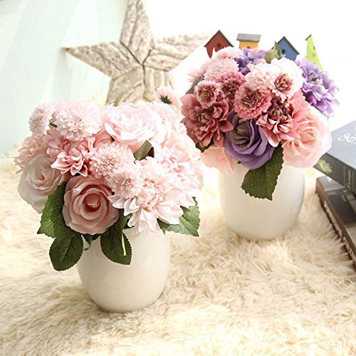 Bureze rose fiori artificiali nuziale bouquet di fiori finti per matrimonio casa decorazione
