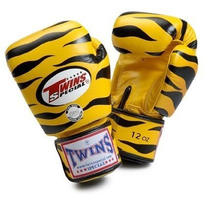 Twins Special Fancy Boxhandschuhe gelb Tiger aus Thailand 10 oz -