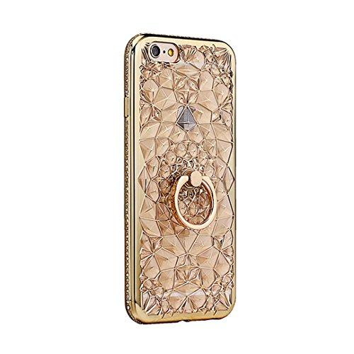 Cover iPhone 6 PLUS Silicone ultra trasparente sottile TPU morbido Custodia Modello di arte cover-panda B-gold