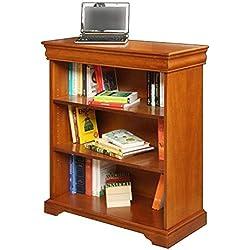 Librería de madera, librería baja, mueble biblioteca de salon estilo clasico