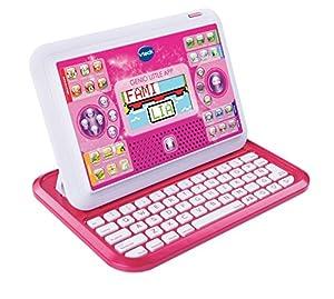 VTech - Ordenador Educativo Genio Little App para niños, Color Rosa, versión española (3480-155557)