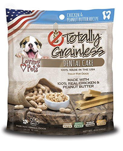 Totally Grainless Dental Bones For Small Dogs 6oz-Chicken & Peanut Butter