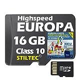 ►Topo Europa für Garmin Montana 600 650 650t Karte +EUROPA 16GB /ALLE Garmin-Geräte /MicroSDCard/WORLDWIDE + ORIGINAL von STILTEC ©