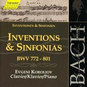 Bach: Inventions & Sinfonias, BWV 772-801 (Edition Bachakademie Vol 106) /Koroliov (piano)