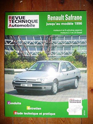 RRTA0722.2 – REVUE TECHNIQUE AUTOMOBILE RENAULT SAFRANE jusqu'au modèle 1996 Essence 4 et 6 cylindres Diesel 2.1l et 2.5l