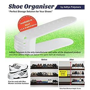 Aditya Polymers 4 Piece Plastic Shoe Organizer, White