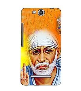 Fuson Designer Back Case Cover for Micromax Canvas Juice 3 Q392 (Saibaba Hanuman Ram theme)