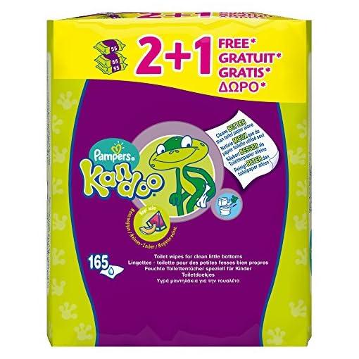 Pampers Kandoo Magic Melon Toilet Wipes, 3 x 55 Wipes (165 Wipes) 51B8aSuasML