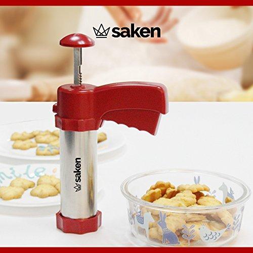 saken-stainless-steel-cookie-press-gun-set-with-plastic-easy-grip-trigger-handle-deluxe-ii-premium-g
