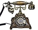 NIHE Europäisches antikes Handwerk retro Wählscheibe Haus Festnetz Caller