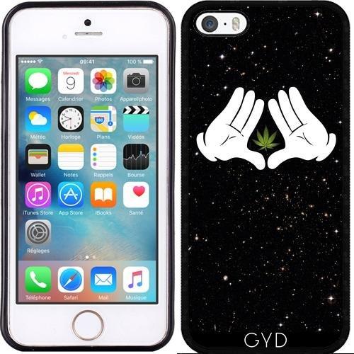 Leder Flip Case Tasche Hülle für Apple iPhone 6/6S - Raumkraut by Spycker Silicone