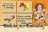 1 Fotokarte Eiladung zur Einschulung ES 01 inkl. hochwertigem Umschlag