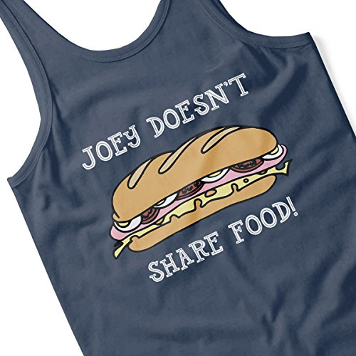 Friends Joey Doesnt Share Food Women's Vest Navy blue