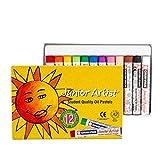 Crayon doux coloré de 12 couleurs, pinceau gras pouvant être lavé