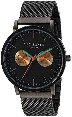Ted Baker 10031186 - Reloj de Pulsera Hombre, Acero Inoxidable, Color Gris