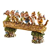 Disney Tradition 4005434 Sette Nani sul Tronco Resina, Design di Jim Shore, 20 cm