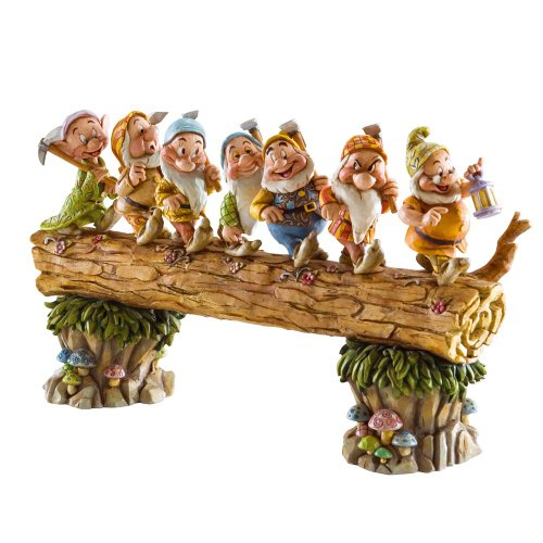 Disney Tradition 4005434 Sette Nani sul Tronco Resina, Design di...