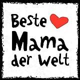 how about tee? - Beste Mama der Welt - stylischer Kühlschrank Magnet mit lustigem Spruch-Motiv - zur Dekoration oder als Geschenk
