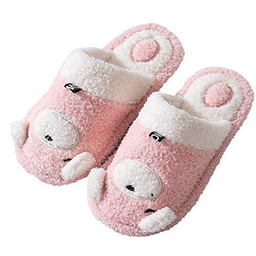 WWF Pantofole in Cotone da Donna Inverno Pantofole da Casa in Cartone Animato Carino Peluche da Casa Calde Scarpe Imbottite in Cotone Coppia Di Pantofole da Uomo in Cotone Suola Antiscivolo /