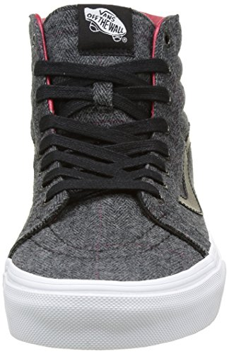 Vans Unisex-Erwachsene Sk8-Hi Reissue Hohe Sneakers Schwarz ((tweed) black/true white)
