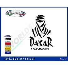Pegatina PARIS DAKAR AFRICA TWIN HONDA YAMAHA KTM CAGIVA IVECO CITROEN 1 (rojo)