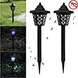 Clothful Solar Powered Led Light Pest Bug Zapper Insect Mosquito Killer Lamp Garden