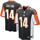 14 Andy Dalton Trikot Cincinnati Bengals Jersey American Football Trikot Mens Black Size L(44)