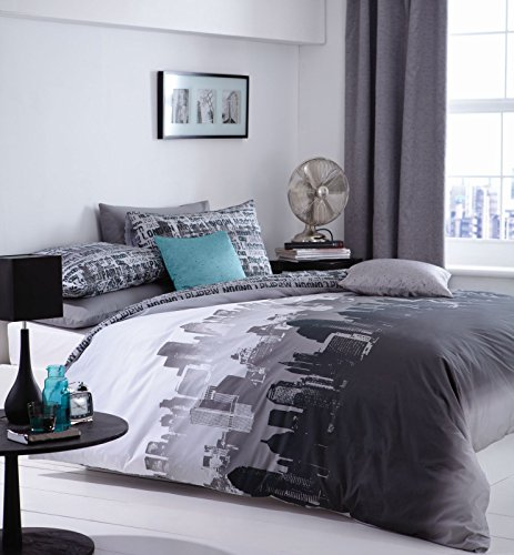 Catherine Lansfield CityScape Double Quiltset - Multi