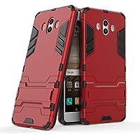 Funda Huawei Mate 10, YHcase 2in1 Armadura Combinación A Prueba de Choques Heavy Duty Escudo Cáscara Dura PC + Suave TPU Silicona Rubber Case Cover con soporte para Huawei Mate 10 -Red
