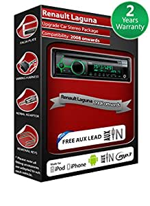 Renault Laguna III Autoradio CD MP3 radio play Clarion, iPod, iPhone, Android
