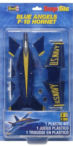 Revell Monogram 1: 100 Maßstab Snaptite Blue Angels F-18 Hornet Model Kit Monogram Snap