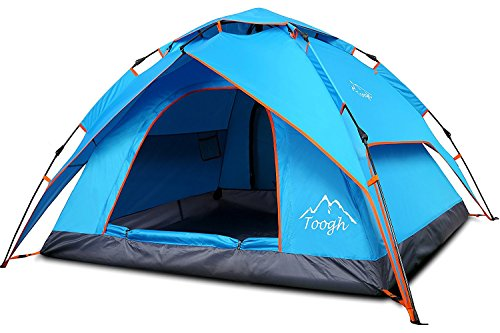 Toogh Waterproof Pop Up Tents Sports Outdoor Camping Hiking Travel Beach with Carrying Bag 2-3 Person Camping TentBackpacking Tents