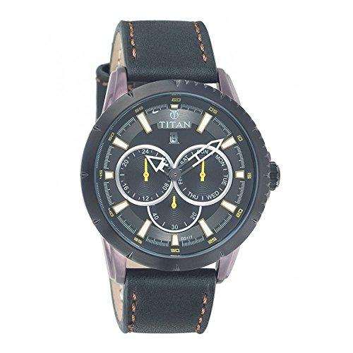 Titan Analog Black Dial Men's Watch - 9484KL02