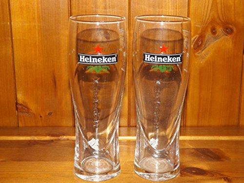Heineken 2 / 3 - pint glass x 2