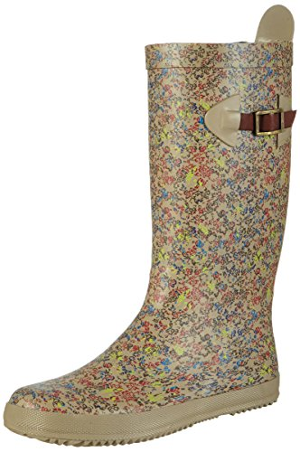 "Bisgaard Rain Boot ""Scandinavia"", Bottines à doublure froide fille Beige - Beige (168 beige-flowers)"